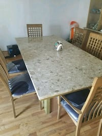 Dining room marble top table and chairs  Linden, 07036