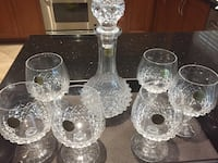 Crystal D'arques Decanter and Glasses New with Tags Vaughan, L4H 1L3