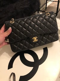 black leather Chanel tote bag Toronto, M6B 2L1