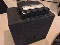 12 inch Alpine subwoofer with Kenwood Amp attached. Ellicott City, 21043