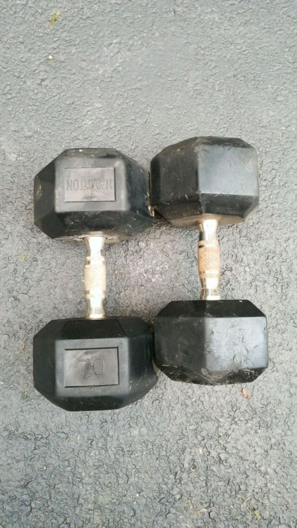 Assorted dumbbells