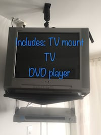 TV with DVD player and ceiling mount Laval, H7X