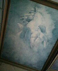 horse painting in brown wooden frame Houston, 77096