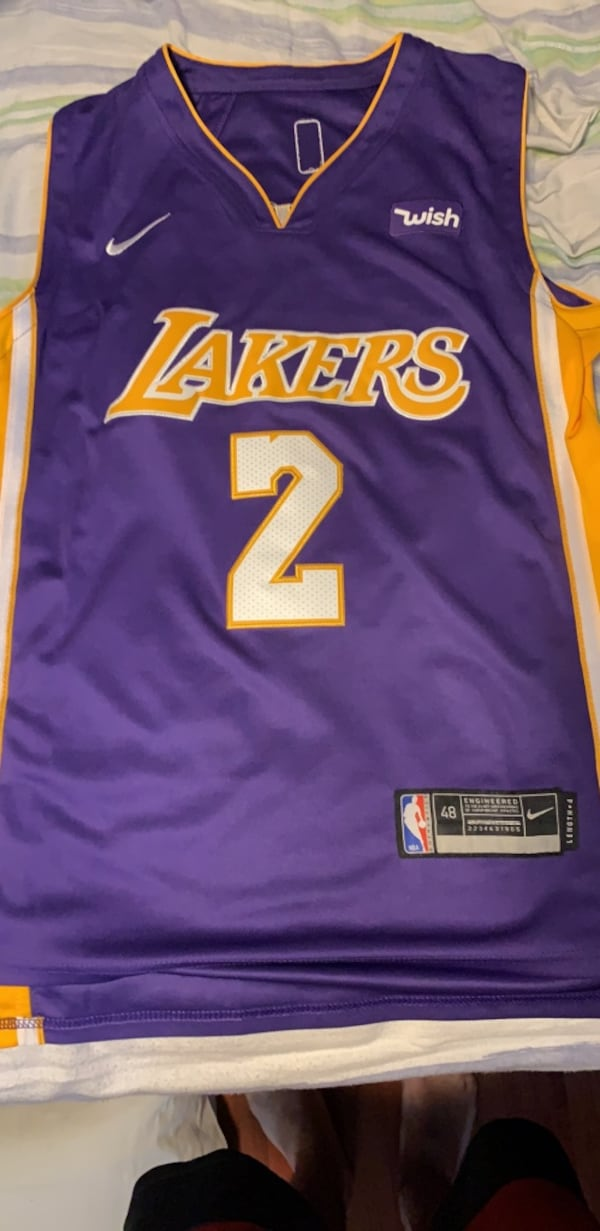London ball Los Angeles lakers jersey 0