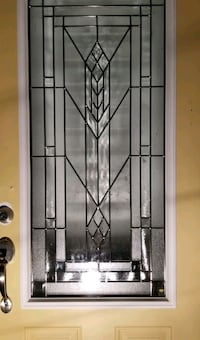 Entrance door windows