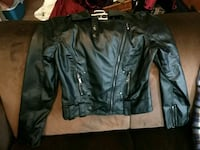 Feux Leather Jacket thin material ladies small Spokane, 99205