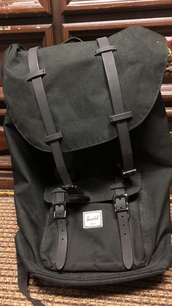 Black Herschel hikers backpack