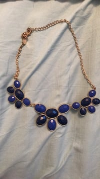 beaded blue and brown necklace 999 mi