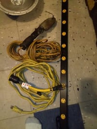 two yellow coated wires 2243 mi