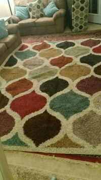 white, brown, and red area rug Centreville, 20121
