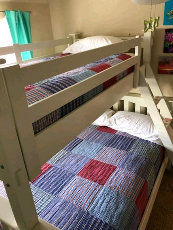 Used Potter Barn Kdis Kendall Twin Over Full Bunk Bed For Sale In