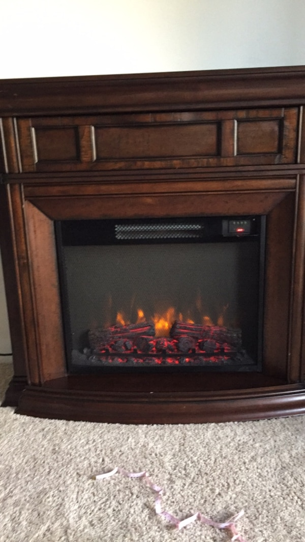 Cool Cherry Finish Amish Fireplace 114 X 52 Great As A Tv Stand On Top Of Fireplace Home Interior And Landscaping Transignezvosmurscom