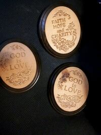 each wood faith plaque