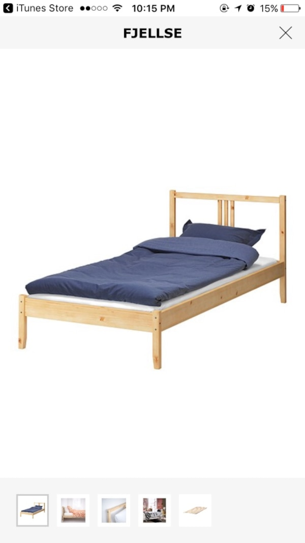 Used Ikea Fjellse Twin Size Bed Frame Bed Base For Sale
