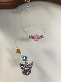 Handmade Wire Ornaments Beads Glass Metal Car Charms Suncatchers Silver Angel Crystal Home Decor Accessories Hanover, 17331