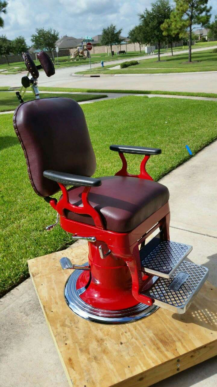 Antique Custom Restored Barber Chair