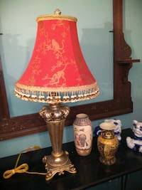 French style lamp with  monkey toile shade