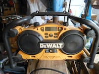 yellow and black DEWALT jobsite radio ISLIP