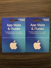Two $100 ITunes Gift cards 756 mi