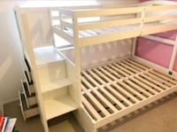 NEW!! Twin/Full white bunk bed •w/ 4 Drawers