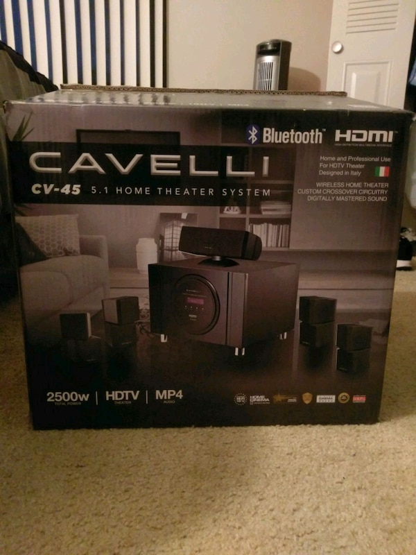 NEVER USED: HDTV home theater system
