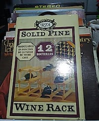 solid pine wine rack 12 bouteiles