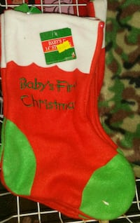 STOCKING STUFFERS 2/$1 BRAND NEW BABY'S FIRST CHRISTMAS STOCKING HAMPTON BAYS Hampton Bays, 11946