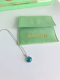 Anzie Blue Topaz and Silver Necklace NEW with bag and pouch Toronto, M5H 3P5