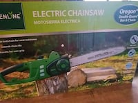 Electric chainsaw 14 in 11 amp 1.5 horsepower Stowe Township