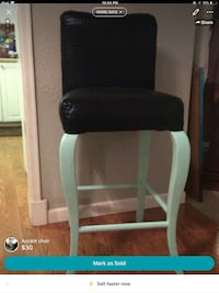 black and white leather rolling chair Thornton, 80229