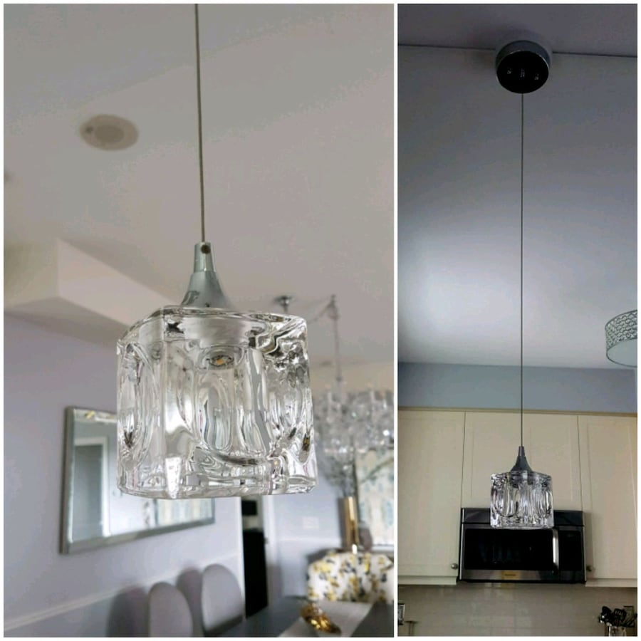 Gorgeous glass LED pendant light
