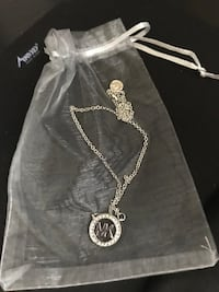 REDUCED! DESIGNER SILVER PLATED NECKLACE WITH CRYSTALS Cambridge