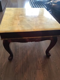 End table marble top square table. Coffee table  Richmond, V7E 6M9