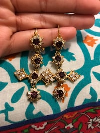 Plum studded earrings Woodbridge, 22193