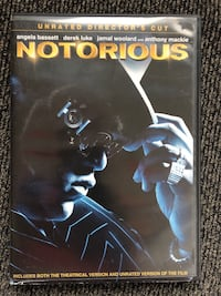 Notorious DVD. Excellent condition.