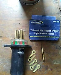black and brown Blue Point 7-round pin tractor trailer light circuit tester Greenville, 16125