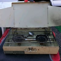 Vintage Trailblazer outdoor camping cooking stove propane
