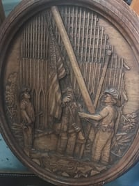 Wood carving Picture 19""