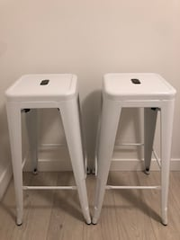 Structube - Hudson iron bar stool - White X2