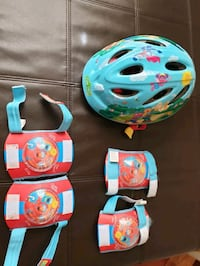 Young Child Helmet, knee pads & elbow pads