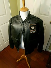 Leather US Army jacket XL Woodbridge, 22193