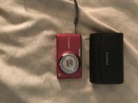 maroon Lumix point-and-shoot camera with case Toronto, M2J 4T6