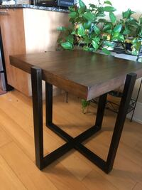 Wooden walnut veneer Lodge square side table Toronto, M4P 1T7