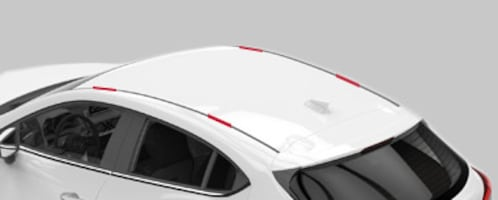 Aerodynamic Universal Car Roof Rack For Car Top With Fixed Point Socke