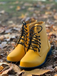 Yellow boots