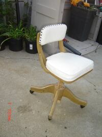 Wooden Rolling Office Chair $60,  Rochester