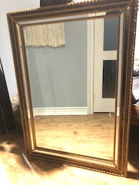 rectangular brown wooden framed mirror Ottawa, K1V 0Z1