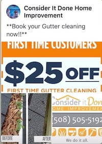 Book your Gutter cleaning now!! Attleboro, 02703