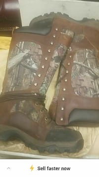 brown Real Tree camouflage boots Gray, 70359