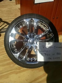 "17"" chrome rims. 2 tires may need to be replaced.  Concord, 03303"
